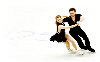 Team GB ice dancers Robynne Tweedale & Joseph Buckland, whose music I edit