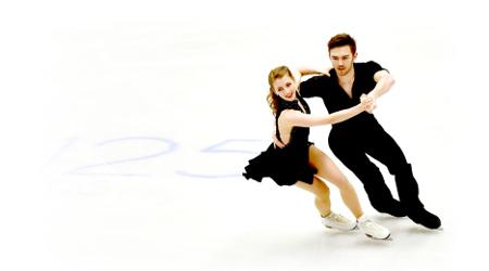 Team GB ice dancers Robynne Tweedale & Joseph Buckland, whose music I edit