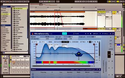 screenshot of an editing project, with audio waveforms visible