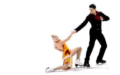 Olympian ice dancers Piper Gilles and Paul Poirier, whose music I edit