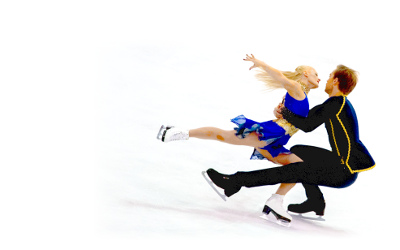 Team GB ice dancers and European Championship medallists Penny Coomes and Nick Buckland, whose music I edit